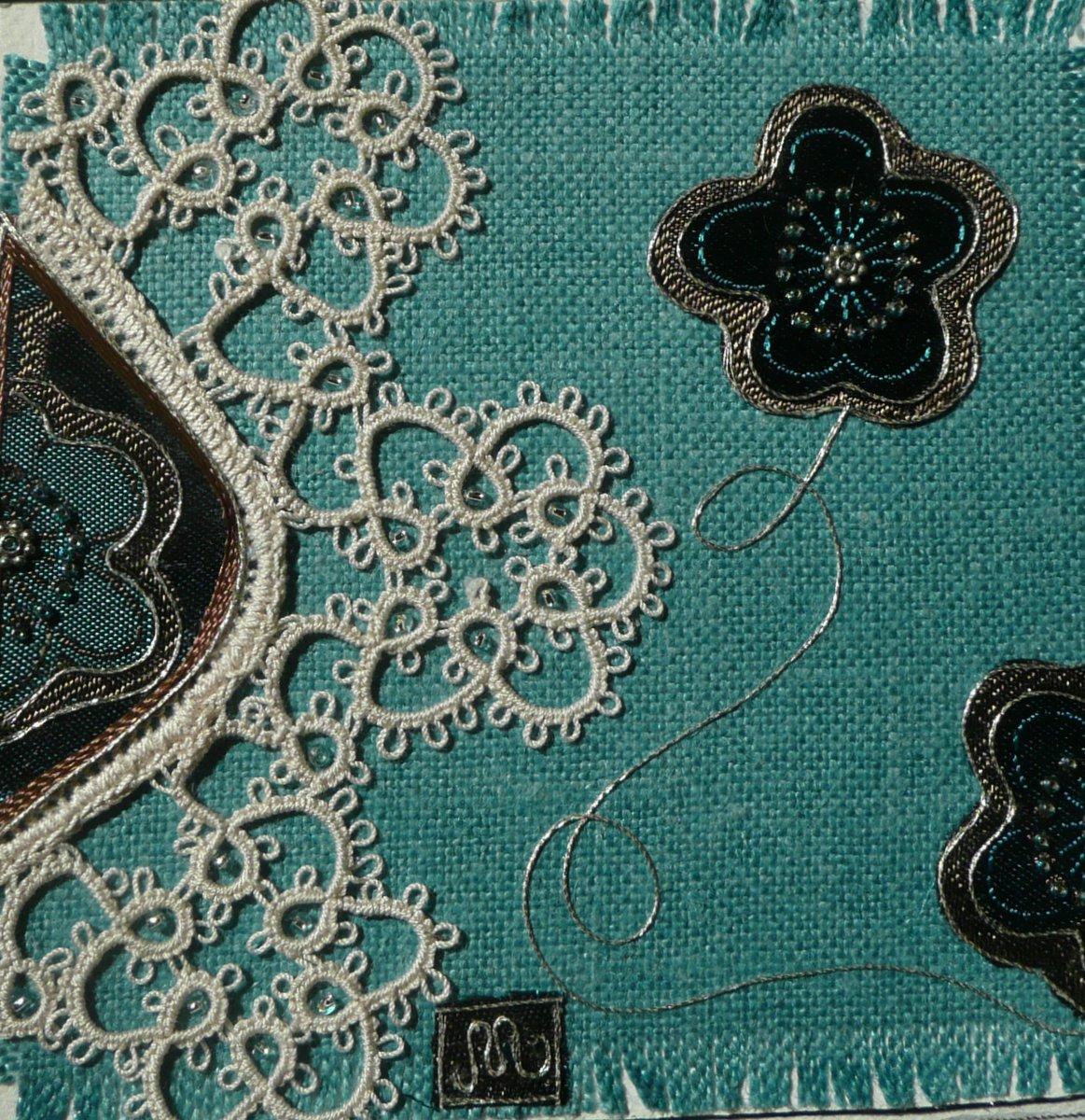 Artwork - blue flowers P1030398