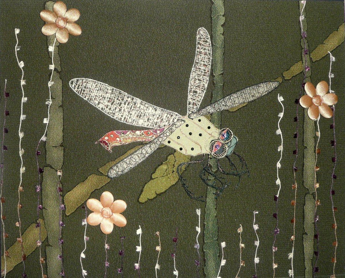 Artwork - green dragonfly P1030055-1