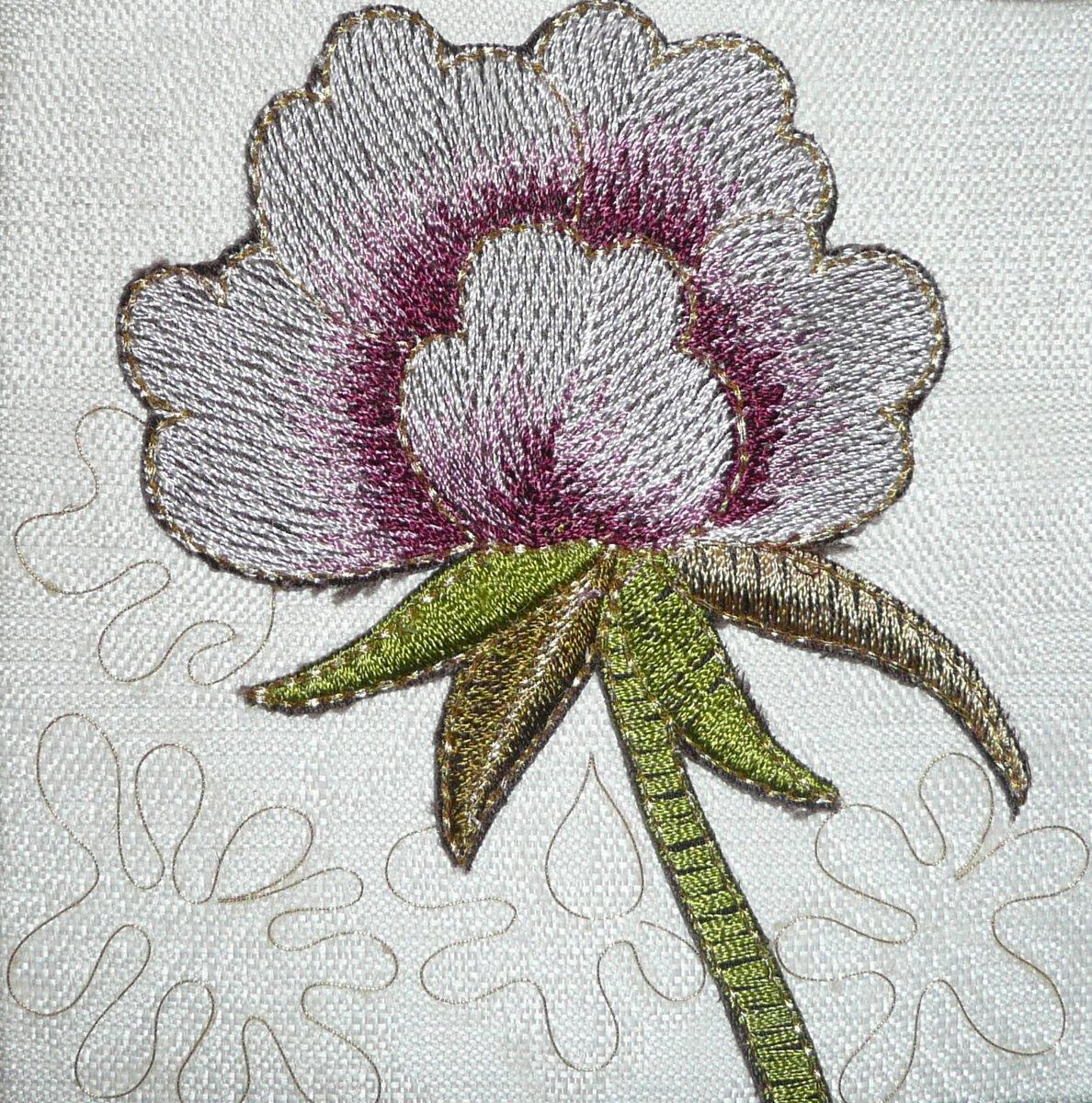 Artwork - pink & green flower P1050108